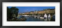 Framed Boats In A River, Stockholm, Sweden