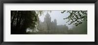 Framed Castle Covered With Fog, Dunrobin Castle, Highlands, Scotland, United Kingdom
