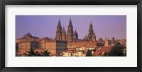 Framed Cathedral in a cityscape, Santiago De Compostela, La Coruna, Galicia, Spain