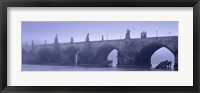 Framed Bridge over a river, Charles Bridge, Prague, Czech Republic