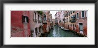 Framed Buildings on both sides of a canal, Grand Canal, Venice, Italy