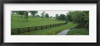 Framed Fence in a field, Woodford County, Kentucky, USA