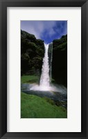 Framed Waterfall in the forest, Kvernufoss, Iceland