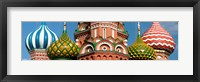 Framed Mid section view of a cathedral, St. Basil's Cathedral, Red Square, Moscow, Russia