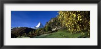 Framed Low angle view of a snowcapped mountain, Matterhorn, Valais, Switzerland