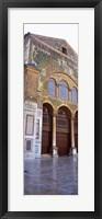 Framed Mosaic facade of a mosque, Umayyad Mosque, Damascus, Syria