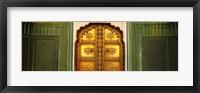 Framed Close-up of a closed door of a palace, Jaipur City Palace, Jaipur, Rajasthan, India