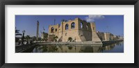 Framed Reflection of a building in a pond, Assai Al-Hamra, Tripoli, Libya