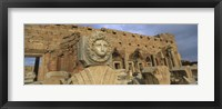 Framed Statue in an old ruined building, Leptis Magna, Libya