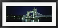 Framed Bridge across a river, Tower Bridge, Thames River, London, England