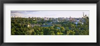 Framed High angle view of a city, Vilnius, Trakai, Lithuania