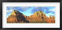 Framed Chapel on rock formations, Chapel Of The Holy Cross, Sedona, Arizona, USA
