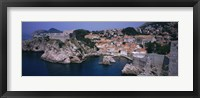 Framed Town at the waterfront, Lovrijenac Fortress, Bokar Fortress, Dubrovnik, Croatia