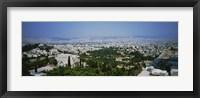 Framed High angle view of a city, Acropolis, Athens, Greece