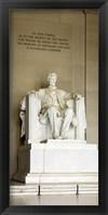 Framed Abraham Lincoln's Statue in a memorial, Lincoln Memorial, Washington DC, USA