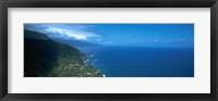 Framed High angle view of a coastline, Boaventura, Sao Vicente, Madeira, Portugal