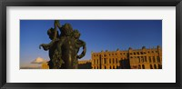 Framed Statues in front of a castle, Chateau de Versailles, Versailles, Yvelines, France