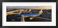 Framed High angle view of airplanes at an airport, Amsterdam Schiphol Airport, Amsterdam, Netherlands