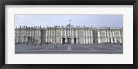 Framed Facade of a museum, State Hermitage Museum, Winter Palace, Palace Square, St. Petersburg, Russia