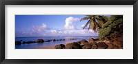 Framed Rocks on the beach, Anini Beach, Kauai, Hawaii, USA