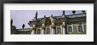 Framed Low angle view of a palace, Winter Palace, State Hermitage Museum, St. Petersburg, Russia