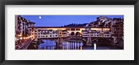 Framed Bridge across a river, Arno River, Ponte Vecchio, Florence, Tuscany, Italy