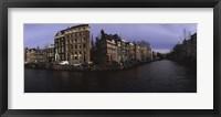 Framed Buildings along a canal, Amsterdam, Netherlands