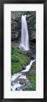 Framed Waterfall in a forest, Sass Grund, Switzerland