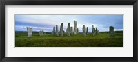 Framed Calanais Standing Stones, Isle of Lewis, Outer Hebrides, Scotland.