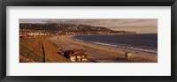 Framed High angle view of a coastline, Redondo Beach, Los Angeles County, California, USA