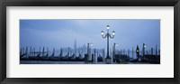 Framed Gondolas in a canal, Grand Canal, St. Mark's Square, San Giorgio Maggiore, Venice, Veneto, Italy