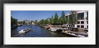 Framed Opera house at the waterfront, Amstel River, Stopera, Amsterdam, Netherlands