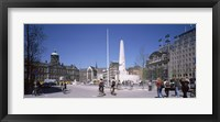Framed Group of people at a town square, Dam Square, Amsterdam, Netherlands
