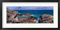 Framed Rock formations on the coast, Bermuda