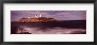 Framed Lighthouse on the coast, Nubble Lighthouse, York, York County, Maine