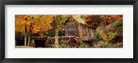 Framed Glade Creek Grist Mill, Babcock State Park, West Virginia, USA