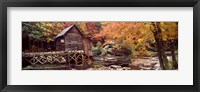 Framed Glade Creek Grist Mill with Autumn Trees, Babcock State Park, West Virginia