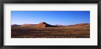 Framed Sand dunes in a desert, Sossusvlei, Namib Desert, Namibia