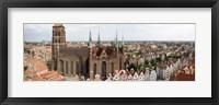 Framed Cathedral in a city, St. Mary's Church, Gdansk, Pomeranian Voivodeship, Poland