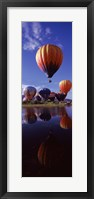 Framed Reflection of Hot Air Balloons, Hot Air Balloon Rodeo, Steamboat Springs, Routt County, Colorado, USA