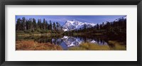 Framed Mt Shuksan, Picture Lake, North Cascades National Park, Washington State, USA