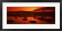 Framed Boats in a bay, Morro Bay, San Luis Obispo County, California, USA