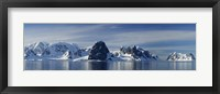 Framed Glacier along straits, Lamaire Channel, Antarctic Peninsula, Antarctica