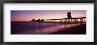 Framed Pier in the sea, Huntington Beach Pier, Huntington Beach, Orange County, California