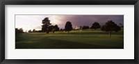 Framed Trees in a golf course, Montecito Country Club, Santa Barbara, California, USA