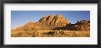 Framed Rock formations in a desert at dawn, Spitzkoppe, Namib Desert, Namibia