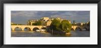 Framed Arch bridge over a river, Pont Neuf, Seine River, Isle de la Cite, Paris, Ile-de-France, France