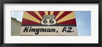 Framed Low angle view of a road sign, Route 66, Kingman, Mohave County, Arizona, USA