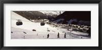 Framed Ski lift in a ski resort, Sankt Anton am Arlberg, Tyrol, Austria