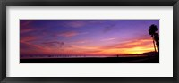Framed Sunset over the ocean, Santa Barbara, California, USA